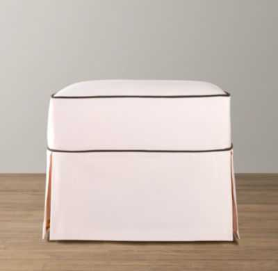 classic ottoman with slipcover - RH Baby & Child