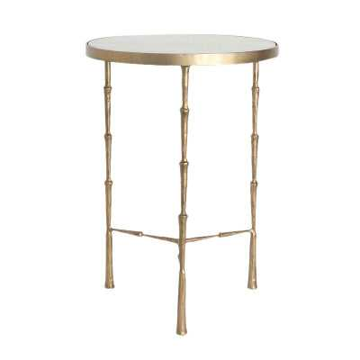 Spike Accent Table w/ White Marble - Domino