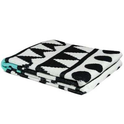 Elements Black/ Seafoam Throw - Domino