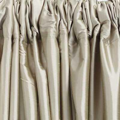 """Dupioni Silk Drapery Panel - Sand, 96""""L - Ballard Designs"""