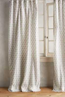 "Embroidered Sari Silk Curtain- white- 84""x50"" - Anthropologie"