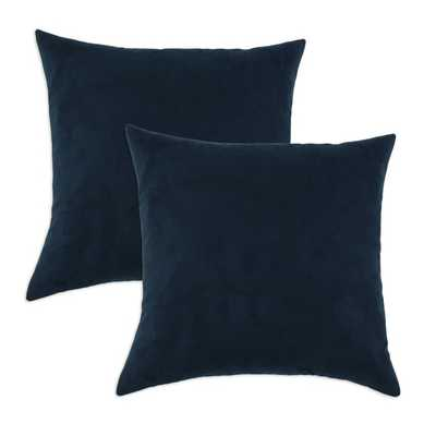 Slam Dunk Navy Simply Soft S-backed 17x17 Fiber Pillows (Set of 2), Insert Included - Overstock