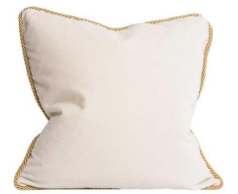 Colorblock Velvet Pillow Black & White - Society Social