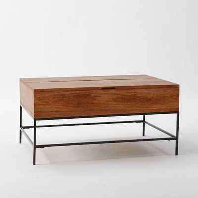 Rustic Storage Coffee Table - Small, Cafe - West Elm