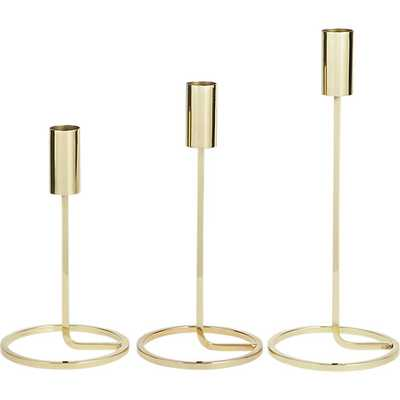 3-piece roundabout candle holder set - CB2
