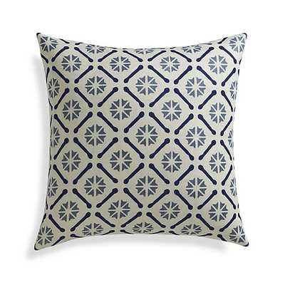 "Chloe 20"" Pillow with Down-Alternative Insert - Crate and Barrel"