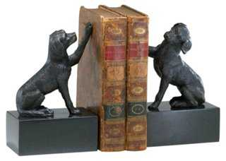Dog Bookends, Pair - One Kings Lane