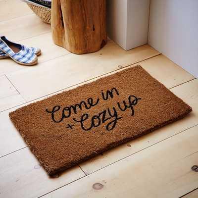 Come In and Cozy Up Coir Doormat - West Elm