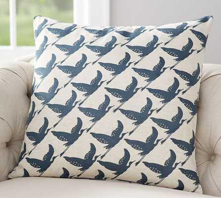 "Geo Bird Print Pillow Cover - 24"" square - Pottery Barn"