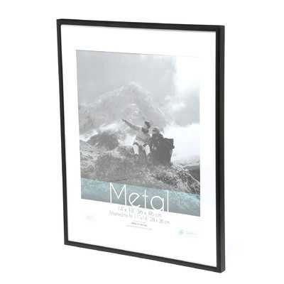 "Pearson Metal Matted Photo Picture Frame - 8"" x 10"" - Black - Wayfair"