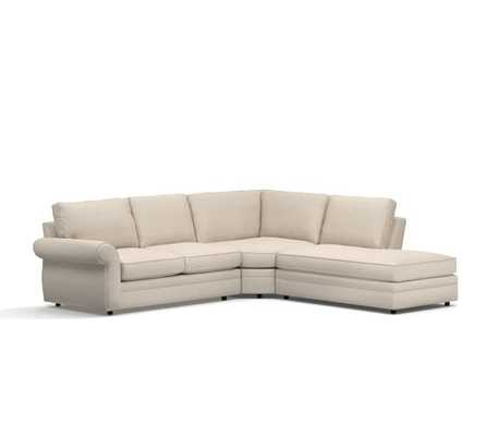 Pearce Upholstered 3-Piece Bumper Sectional - Pottery Barn