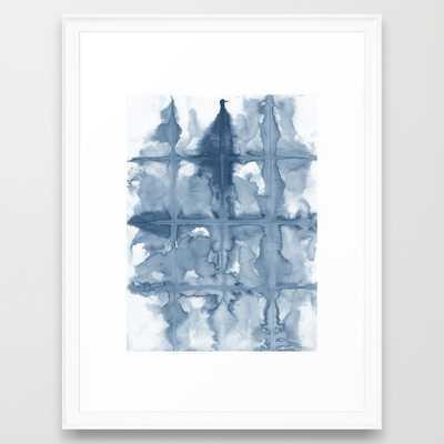 FRAMED ART PRINT/ SCOOP WHITE MEDIUM - Society6