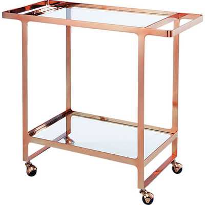 Dolce vita rose gold bar cart - CB2
