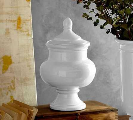 HUDSON CERAMIC VASES - Lidded Vase - Pottery Barn