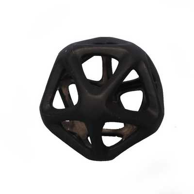 Geoff Decorative Orb Geometric Cutout Sculpture - Black, Small - AllModern