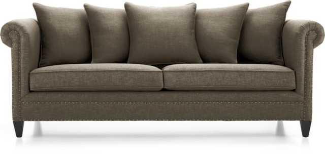 Durham Sofa - Bark - Crate and Barrel