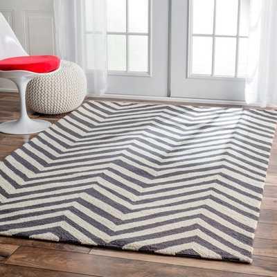 nuLOOM Handmade Alexa Chevron Wool Rug - Overstock