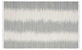 4'x6' Uma Flat-Weave Rug, Gray - One Kings Lane