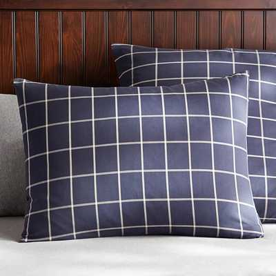Boxter Plaid Standard Sham - Pottery Barn Teen