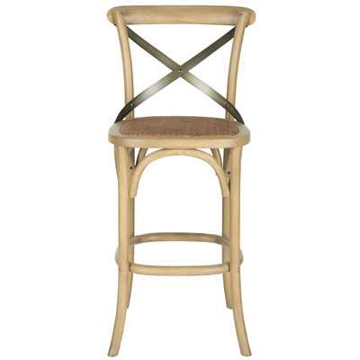 "Eleanor 30.7"" Bar Stool with Cushion by Safavieh - Wayfair"