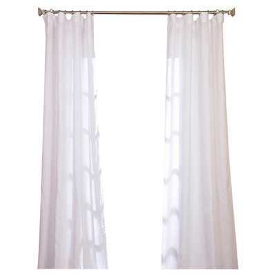 "Signature Lace French Linen Pleated Single Curtain Panel-108"" L x 50"" W - Wayfair"