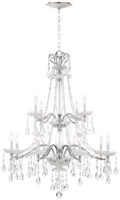 "Lenora 37 1/2""W Crystal Chandelier with LED Canopy - Lamps Plus"