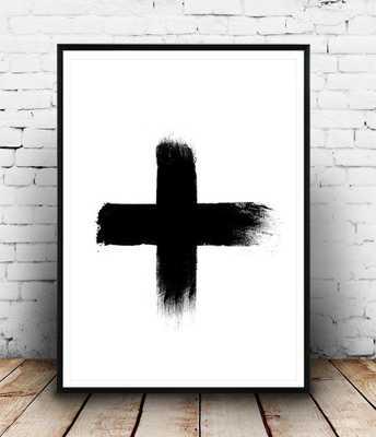 Cross FRAMED ART PRINT - Society6