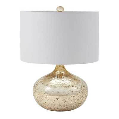 Glass Table Lamp with Drum Shade - Gold Mercury - AllModern