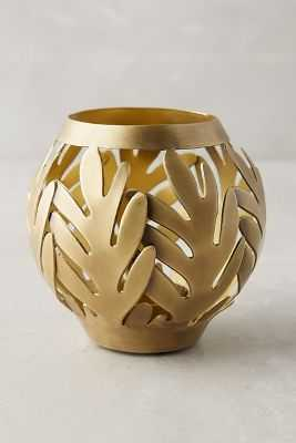 Wreathed Hurricane Votive - Small - Anthropologie