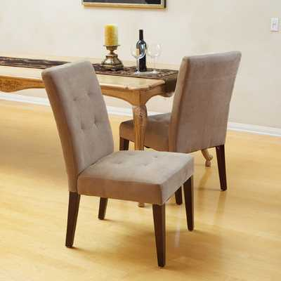 Talib Tufted Leather Dining Chair  Set of 2 - AllModern