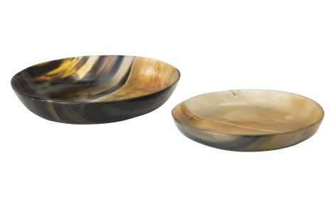 HORN ROUND HALF BURNISHED PLATE - SMALL - Jayson Home
