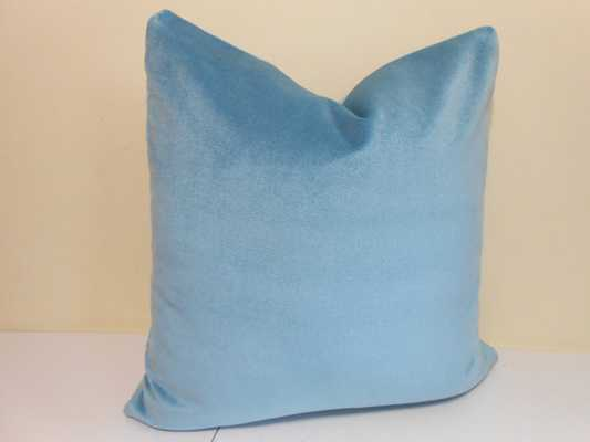 "Blue Velvet Outdoor/ Indoor Pillow cover-20"" x 20""-Insert not included - Etsy"