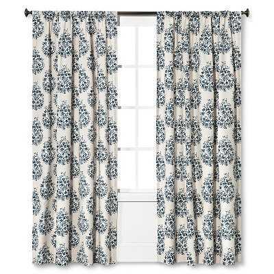 "Thresholdâ""¢ Paisley Curtain Panel - 54W x 84L - Target"