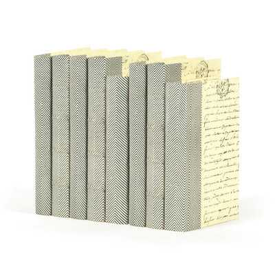 8 Piece Chevron Texture Decorative Book Set - Wayfair