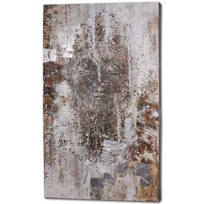 """Zen Original Painting, 78"""" H x 48"""" W x 2"""" D, Unframed - AllModern"""
