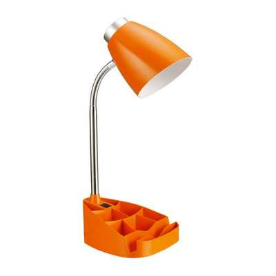 """LimeLights Gooseneck Organizer 15.35"""" H Table Lamp - Wayfair"""