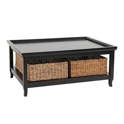 Morgan Cocktail Table with Woven Basket - Ballard Designs