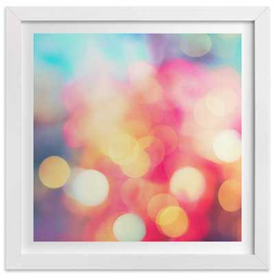 "Ballet De Couleurs-24""x24"" - Framed - Domino"
