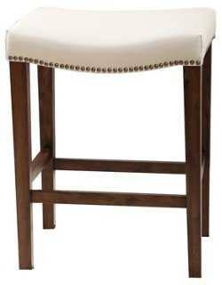 Fin Leather Counter Stool - One Kings Lane