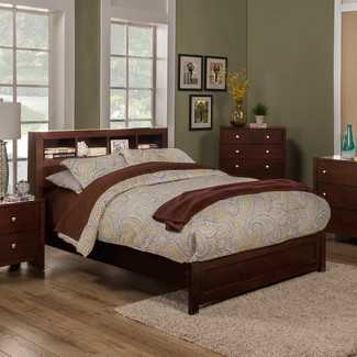 Solana Platform Bed with Bookcase Headboard - Wayfair