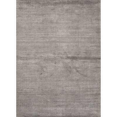 Handmade Solid Pattern Grey Wool/ Art Silk Area Rug (10'x14') - Overstock