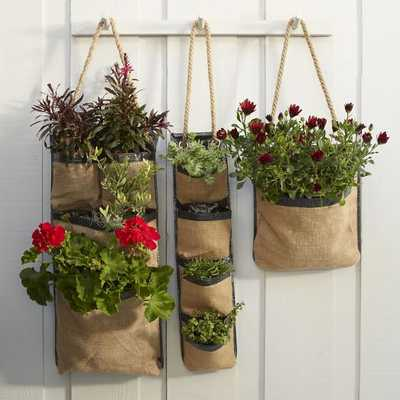 Hanging Bag Planters - West Elm