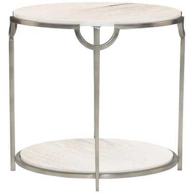 Bernhardt Occasional Morello Oval End Table - Stephanie Cohen Home