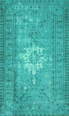 "Machine Made Chroma Overdyed Style Rug Turquoise-5'5""x8'2"" - Domino"