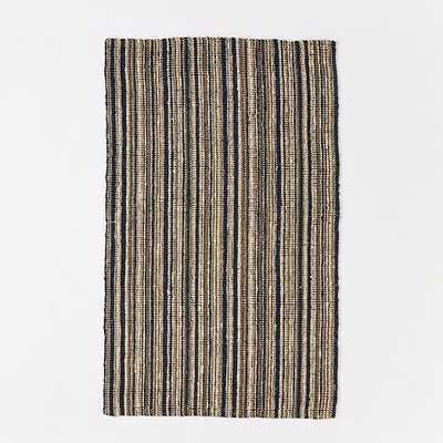 Stripe Jute Boucle Rug - 8' x 10' - West Elm