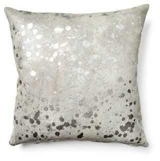 Splash Cowhide Pillow - One Kings Lane