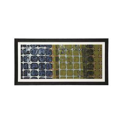 "Seasonal Fence Print- 30""Wx0.75""Dx60""H -Framed - Crate and Barrel"