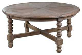 Bleecker Spindle Coffee Table - One Kings Lane