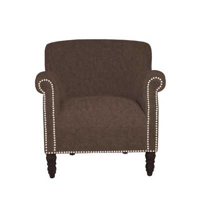 angelo:HOME Carissa Parisian Chocolate Brown Arm Chair - Overstock