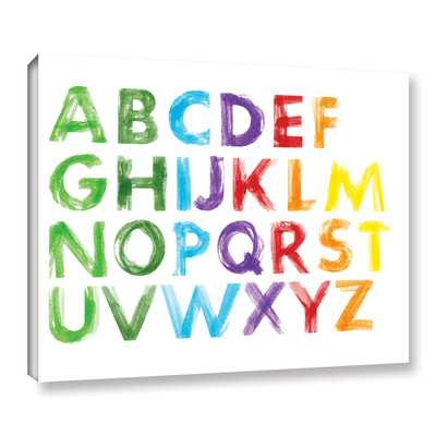 ABC Watercolor by Amy Cummings Textual Art on Gallery Wrapped Canvas - Wayfair